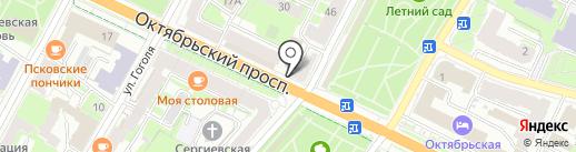 Почта банк, ПАО на карте Пскова