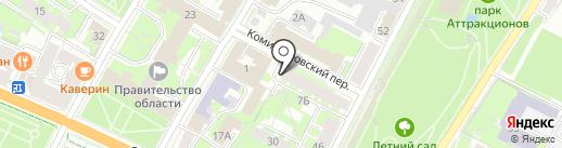 Нотариус Семенова Н.А. на карте Пскова