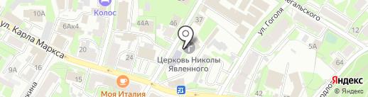 Церковь Николы Явленного от Торга на карте Пскова
