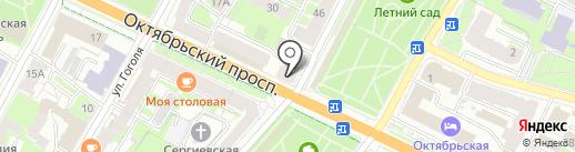 Девочка & Мальчик на карте Пскова