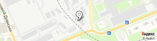 Автомойка на Советской на карте Пскова