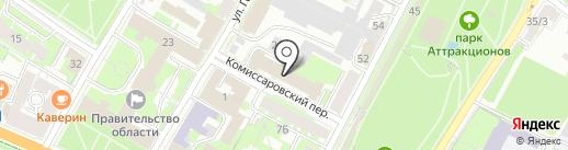 Адвокатская палата Псковской области на карте Пскова