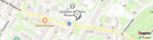 Автостоянка на карте Пскова