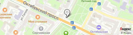 Киоск фастфудной продукции на карте Пскова
