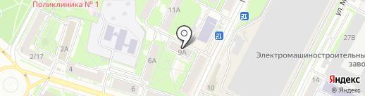 Милори на карте Пскова
