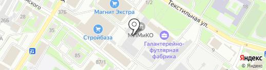Псковская галантерейно-футлярная фабрика на карте Пскова