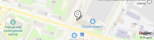 Самурай на карте Пскова