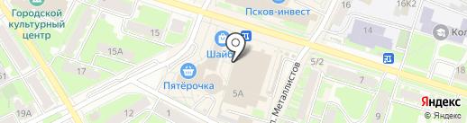Магазин мужской одежды на карте Пскова