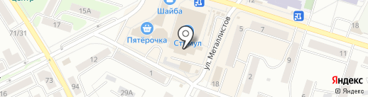 Аллюр на карте Пскова