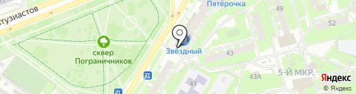 Магазин нижнего белья на карте Пскова