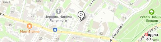 Строй линия-связь на карте Пскова