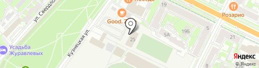 Каток на стадионе Машиностроитель на карте Пскова