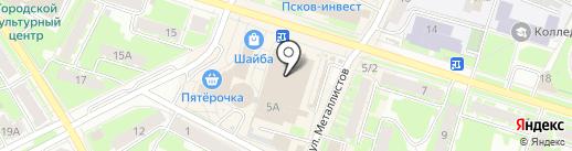 №1 на карте Пскова