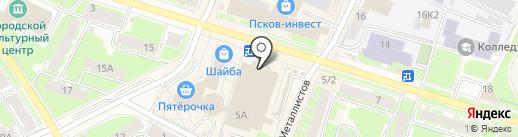 Магазин посуды и люстр на карте Пскова