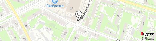 Сеть киосков по продаже горячих пирожков на карте Пскова