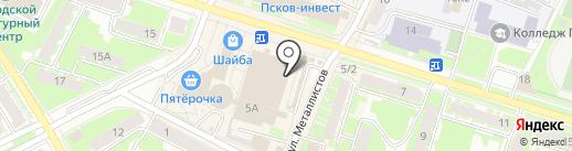 Цветочный блюз на карте Пскова