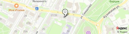 Вилон на карте Пскова