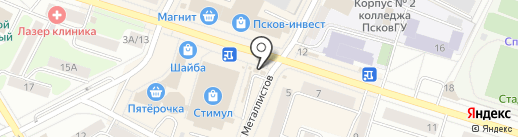РосДеньги на карте Пскова
