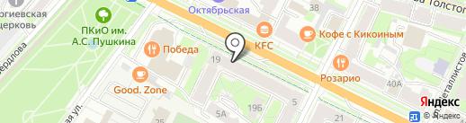 Русский займ на карте Пскова