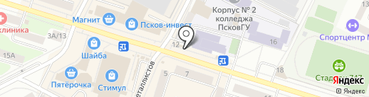 Деньги в руки на карте Пскова