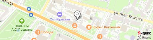 Бриония на карте Пскова