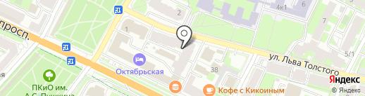 Среда на карте Пскова