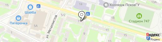 ПсковАгроИнвест на карте Пскова