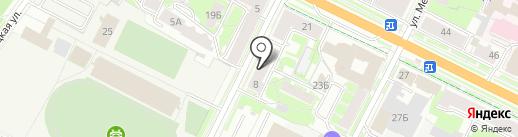 Детский сад №4 на карте Пскова
