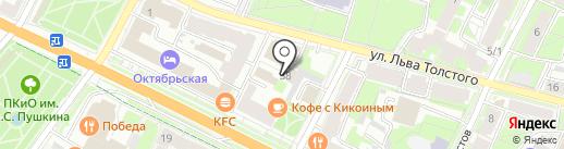 Автомойка на Толстого на карте Пскова
