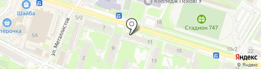 Твой дом.60 на карте Пскова