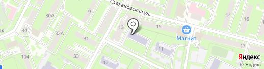 Вечерняя сменная общеобразовательная школа №1 на карте Пскова