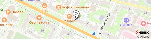 Детский сад №5 на карте Пскова