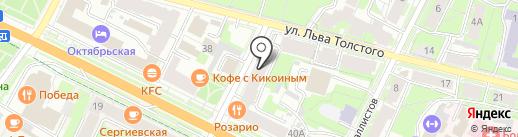 Купидон на карте Пскова