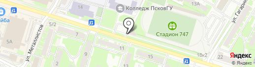 ВО!ВА! на карте Пскова