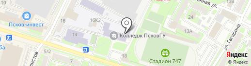 Колледж на карте Пскова