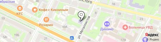 Детский сад №15 на карте Пскова