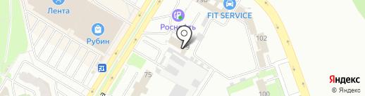 Автохолл на карте Пскова