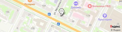 Банк Советский на карте Пскова