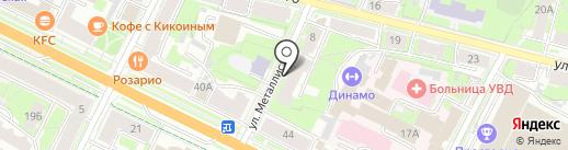 Адвокатский кабинет Ведерникова Г.П. на карте Пскова