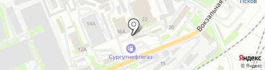 Валентина на карте Пскова