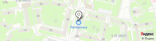 Магазин цветов на карте Пскова