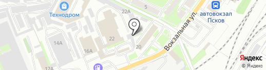 Моторный цех на карте Пскова