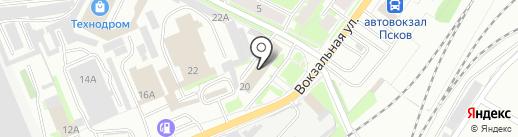 Центр охраны труда и промышленной безопасности на карте Пскова