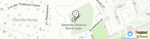 Церковь Иоанна Богослова на Мишариной горе на карте Пскова