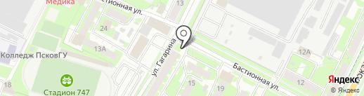 Киоск по продаже овощей и фруктов на карте Пскова