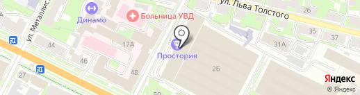 Петрокрипт на карте Пскова