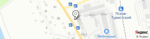 Природный камень на карте Пскова
