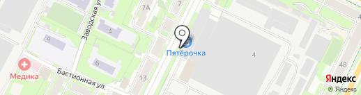 Российская международная академия туризма на карте Пскова