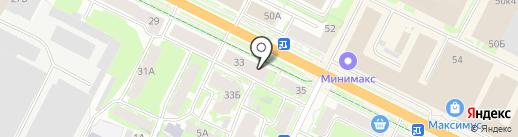 Milano на карте Пскова