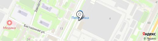 Q на карте Пскова